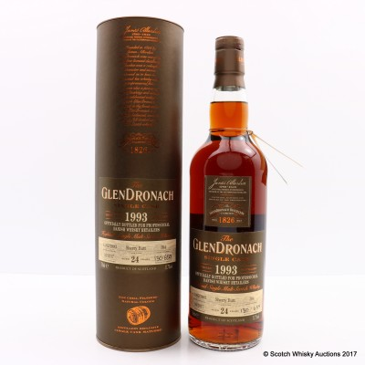 GlenDronach 1993 24 Year Old Single Cask #394 For Professional Danish Whisky Retailers