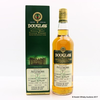 Aultmore 2007 7 Year Old Douglas Of Drumlanrig