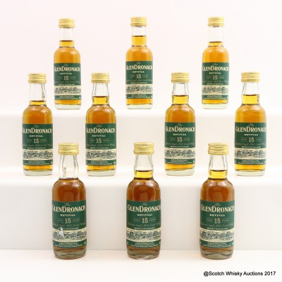 GlenDronach 15 Year Old Revival Minis 10 x 5cl