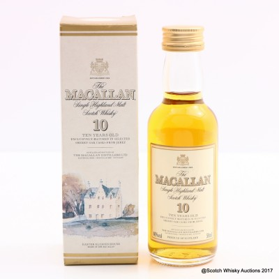 Macallan 10 Year Old Old Style Mini 5cl