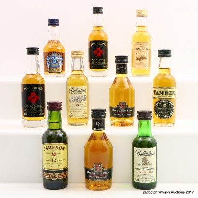 Assorted Minis 10 x 5cl Including Highland Park 12 Year Old