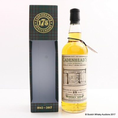Cooley 1992 25 Year Old Cadenhead's For Whisky Shop Campbeltown