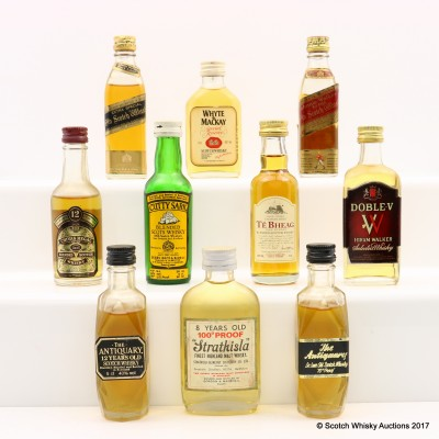 Assorted Minis 10 x 5cl Including Cutty Sark Mini 5cl