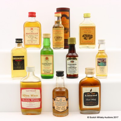 Assorted Minis 10 x 5cl Including Glen Mhor 8 Year Old Gordon & MacPhail Mini