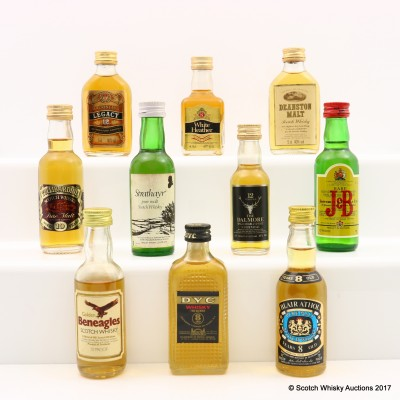Assorted Minis 10 x 5cl Including Tullibardine 10 Year Old Mini 5cl