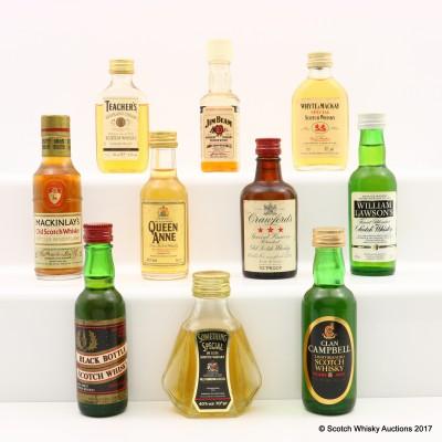 Assorted Minis 10 x 5cl Including Black Bottle Mini 5cl