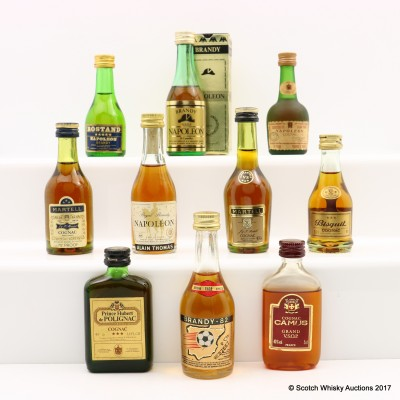 Assorted Minis 10 x 5cl Including Martell Cognac Mini 5cl