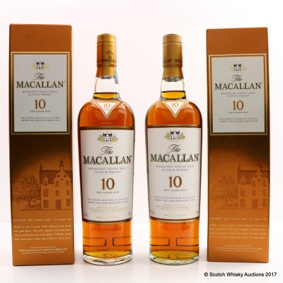 Macallan 10 Year Old x 2