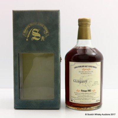 Glen Grant 1983 12 Year Old Signatory For 5th Anniversary Of Glengarry Whisky Club