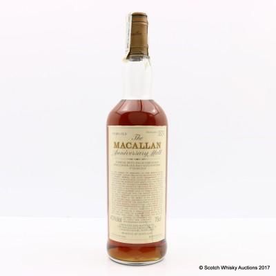 Macallan 1962 Over 25 Year Old Anniversary Malt 75cl