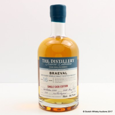 Braeval 2000 16 Year Old Distillery Reserve Collection