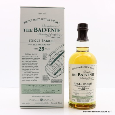 Balvenie 1990 25 Year Old Single Barrel
