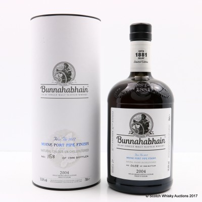 Bunnahabhain Feis Ile 2017 Moine Port Finish
