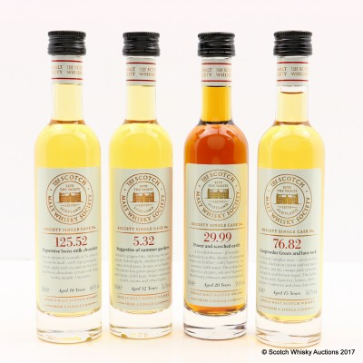Assorted SMWS Minatures 4 X 10cl