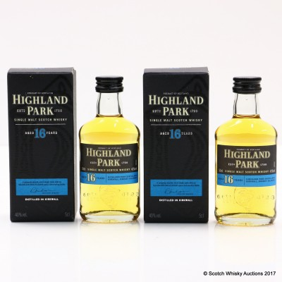Highland Park 16 Year Old Mini 5cl x 2