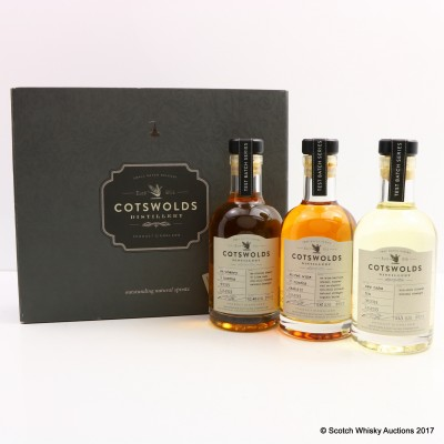Cotswolds Distillery Test Batch 2015 Selection 3 x 20cl