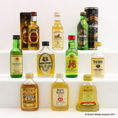 Assorted Minis 10 x 5cl including Glen Grant 12 Year Old