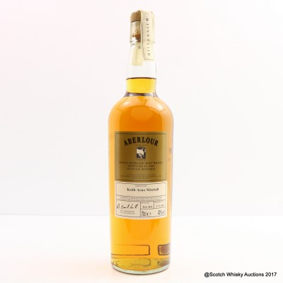 Aberlour 1989 Millennium Dunnage Reserve For Keith Arno Mitchell