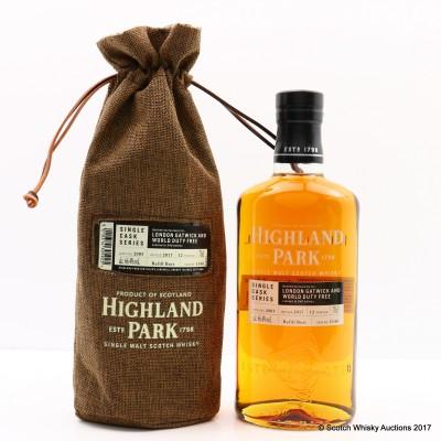 Highland Park 2005 12 Year Old For London Gatwick & World Duty Free Single Cask #1140