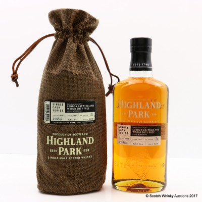 Highland Park 2005 12 Year Old For London Gatwick & World Duty Free Single Cask #1140