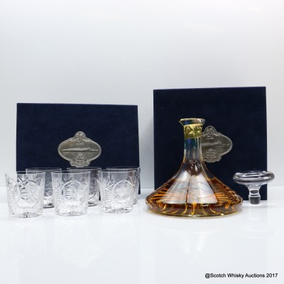 Auchentoshan 12 Year Old Glencairn Ship's Decanter 1L Set with Glasses