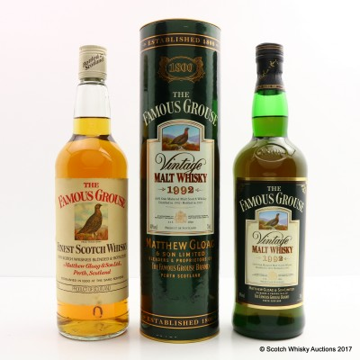 Famous Grouse 1992 Vintage & Famous Grouse Old Style 75cl