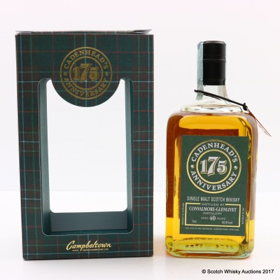 Convalmore-Glenlivet 1977 40 Year Old Cadenhead's