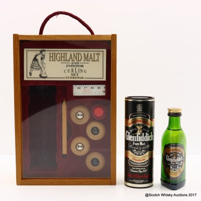 Glenfiddich Pure Malt Indoor Curling Set Mini 5cl