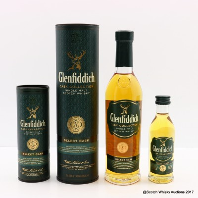 Glenfiddich Select Cask 20cl with Matching Mini 5cl