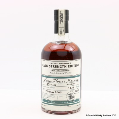 Linn House Reserve 35 Year Old Chivas Brothers Cask Strength Edition 50cl