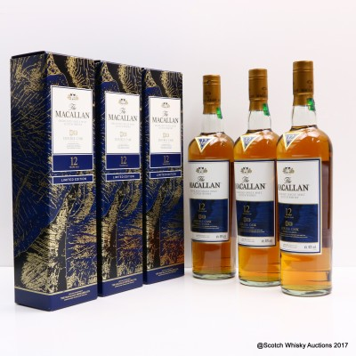 Macallan 12 Year Old Double Cask Limited Edition 3 x 70cl