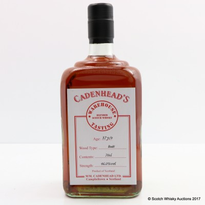37 Year Old Blend Cadenhead's Warehouse Tasting