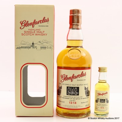 Glenfarclas Commemorative Bottling For The 700th Anniversary Of The Battle Of Bannockburn & Mini 5cl