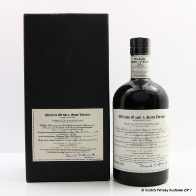 William Grant & Sons 25 Year Old Rare & Extraordinary 75cl