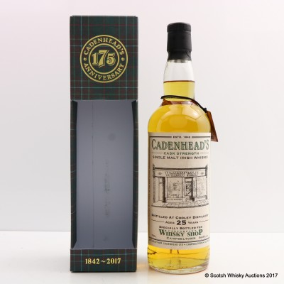 Cooley 1992 25 Year Old For Cadenhead's Whisky Shop Campbeltown