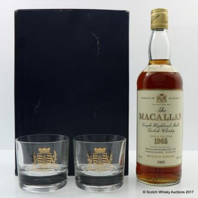 Macallan 1965 75cl & 2 x Glasses Gift Set