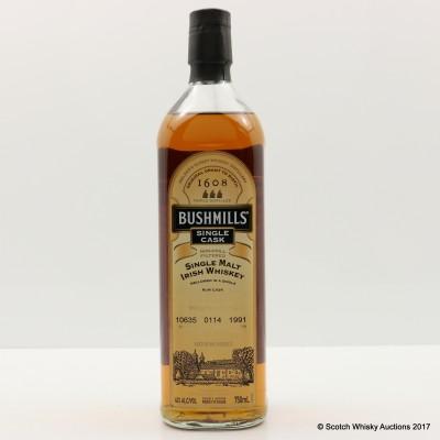 Bushmills 1991 Single Cask #10635 for Park Avenue Liquor Shop 75cl