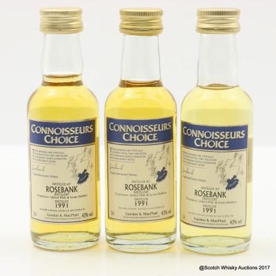 Rosebank 1991 Connoisseurs Choice Mini 3 x 5cl