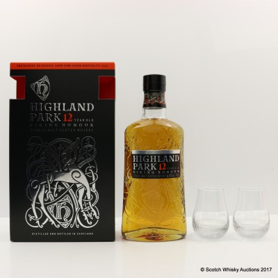 Highland Park 12 Year Old Viking Honour Gift Set With 2 Glasses