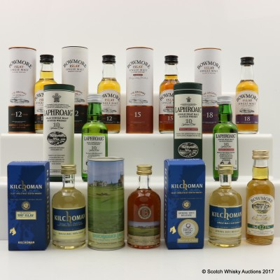 Assorted Islay Minis 10 x 5cl including Bruichladdich Links The Old Course St Andrews 17th Hole Mini 5cl