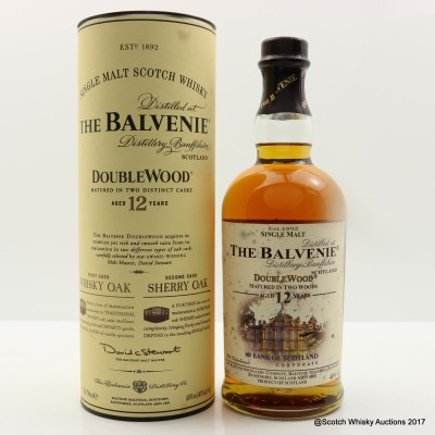 Balvenie 12 Year Old DoubleWood Bank Of Scotland Corporate edition