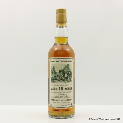 Single Malt Irish Whiskey 2001 15 Year Old For Sansibar Whisky & Van Der Boog