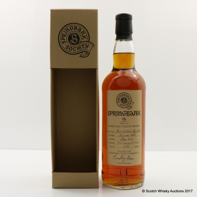 Springbank 2007 9 Year Old Society Bottling