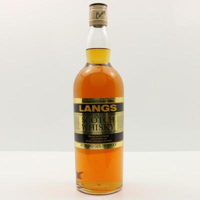 Langs Old Scotch Whisky 26 2/3 Fl Oz
