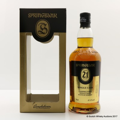 Springbank 21 Year Old Single Cask 2016 Release For Symposion