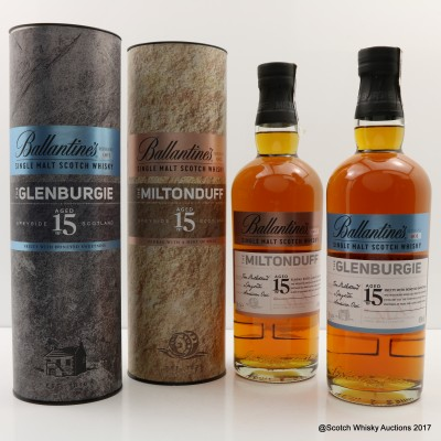 Glenburgie 15 Year Old Ballantine's Series #1 & Miltonduff 15 Year Old Ballantine's Series #2