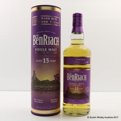 BenRiach 15 Year Old Dark Rum Wood Finish