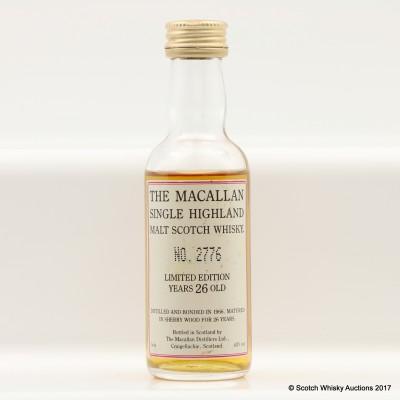 Macallan 1966 26 Year Old Mini 5cl