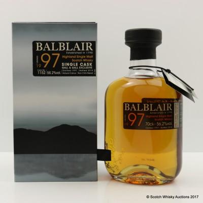 Balblair 1997 Single Cask #1152 for Gall & Gall