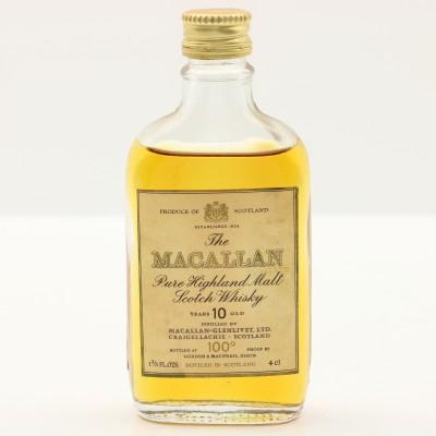 Macallan 10 Year Old 100° Proof Mini 1 2/3 Fl Oz